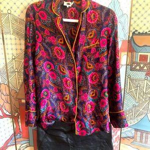 Anthropologie Silk Kimono Blouse